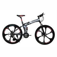 Buy 26 inches bicycles Steel 24 speed Double shock absorption folding mountain bike Double disc MTB bicycle X9 Frame for $269.10 in AliExpress store