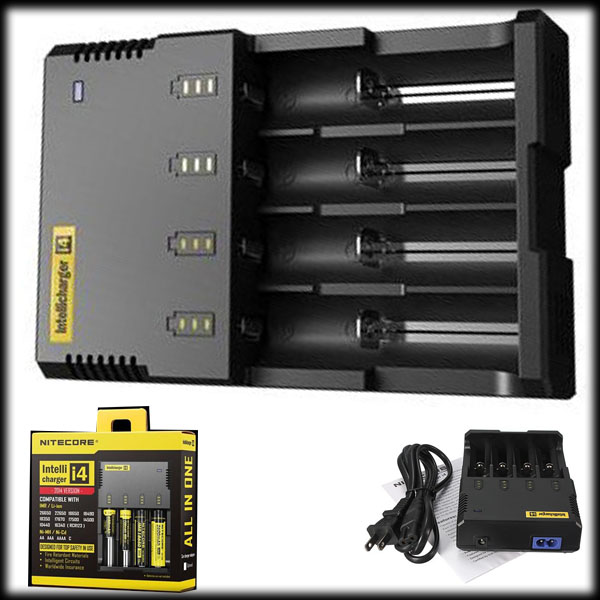 by DHL or EMS 100 pieces for Nitecore I4 Universal Intelligent Li-ion/NiMH 18650/26650/AA Battery Charger(China (Mainland))