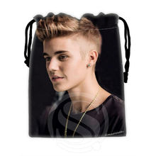 H-P740 Custom Justin Bieber#7 drawstring bags for mobile phone tablet PC packaging Gift Bags18X22cm SQ00806#H0740(China (Mainland))