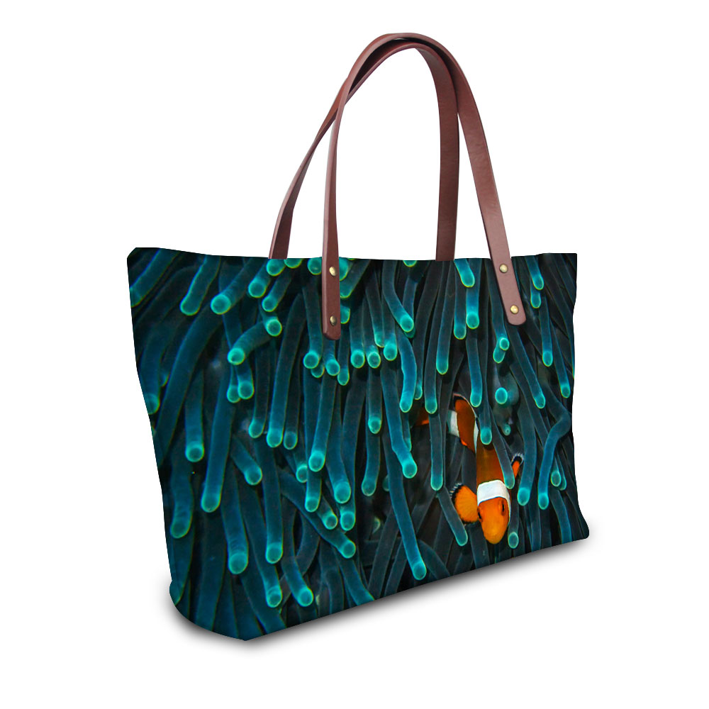 Buy tropical fish printing fashion women for Reliable fish bags