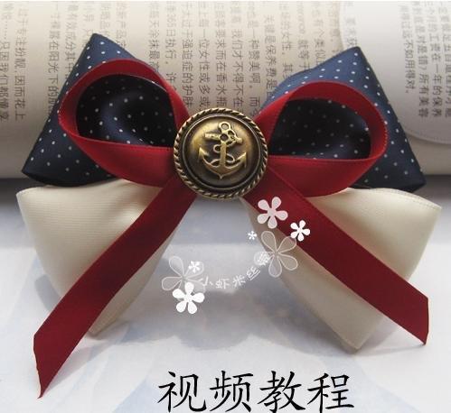50pcs/lot Handmade Hair Bows with Clips. Elegant Ribbon Bows Vintage Button Woman GIRLS HAIR accessories(China (Mainland))