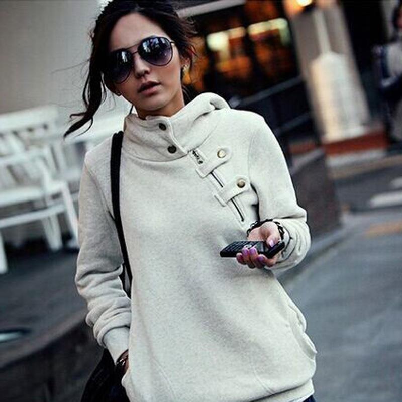 Plus Size New 2015 Casual Women Sweatshirt Fashion Sport Suit Pullover Hoody Fleece Warm Girls Hoodies Winter Clothing - MISS PAOLA store