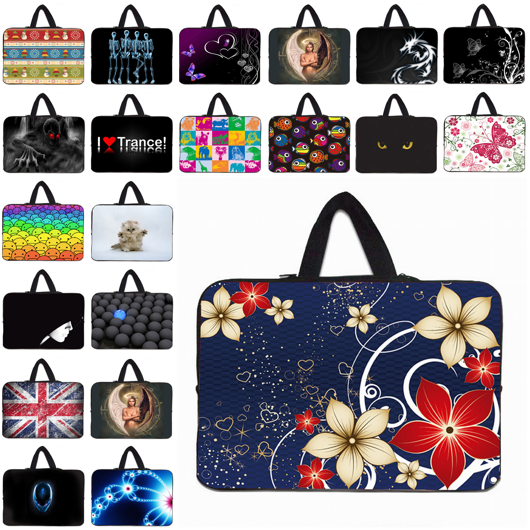 """Zipper Sleeve Case + Handle Notebook Bags Case For MacBook Pro Retina Acer Dell 15.4 15.6 15"""" Mini Computer Fashion Accessories(China (Mainland))"""