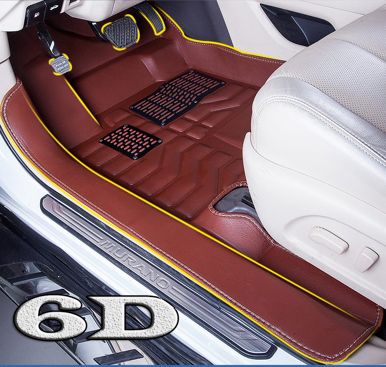 2017 Newest 6 D Full covers waterproof personality Longest Widest Car floor mat For Hyundai I30 IX30 IX35 veloster GRAND SANTAFE(China (Mainland))