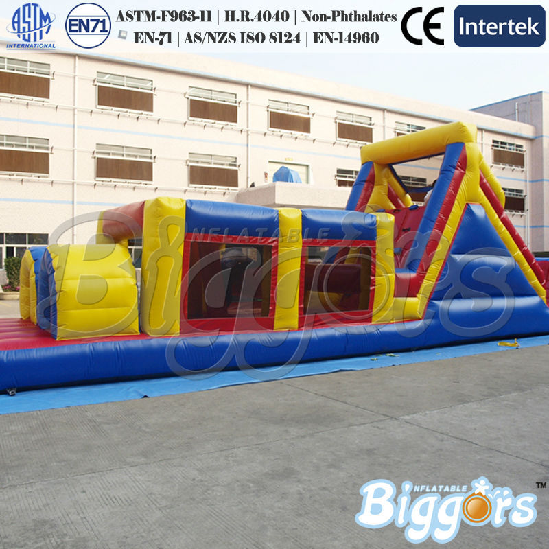 FREE SHIPPING BY SEA Giant PVC Inflatable Bouncer Jumping House Inflatable Obstacle Course Combo For Sale(China (Mainland))