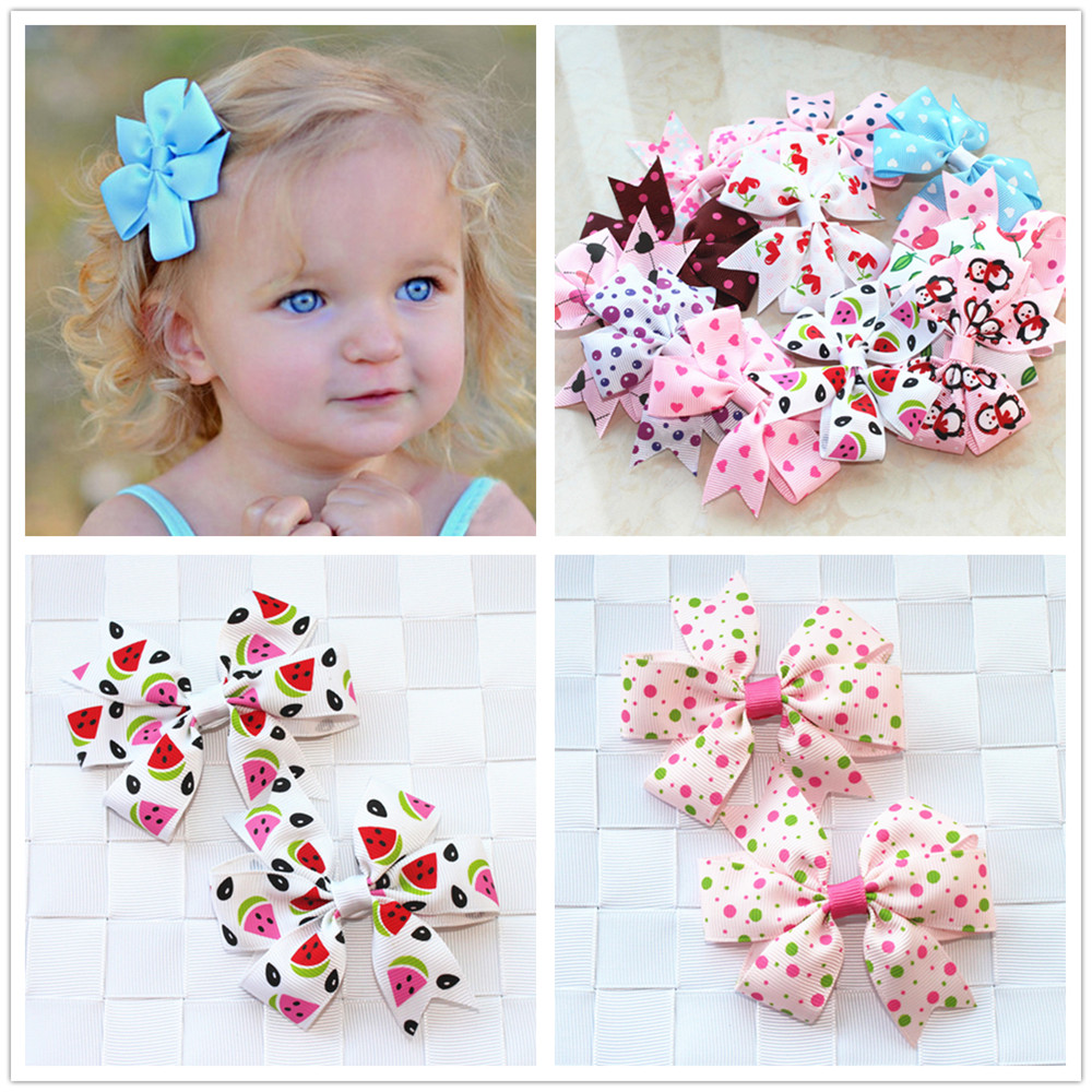 2pcs/lot baby girl hair bow flower children accessory baby barrettes hair accessories kids hairpins boutique hair clips headwear(China (Mainland))