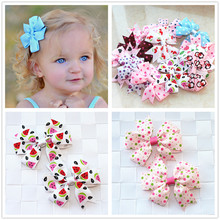 Buy 2pcs/lot baby girl hair bow flower children accessory baby barrettes hair accessories kids hairpins boutique hair clips headwear for $1.08 in AliExpress store