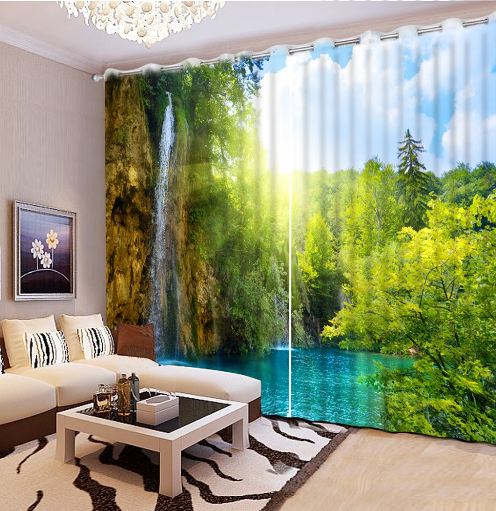 Popular window curtain patterns buy cheap window curtain for B q living room curtains