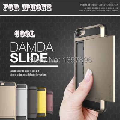 Super cool card slot Armor Rubber Soft TPU Silicon hard PC shell Case Cover Apple iPhone 6S 6 plus 5 5s Fundas Capa Carcasa - MagicBuying store