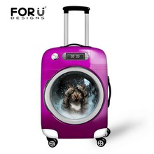 Hot Sale Travel Accessories 3D Animal Printing Waterproof Luggage Covers for 18/20/22 Inch Cases Pet Cat Elastic Suitcase Covers(China (Mainland))