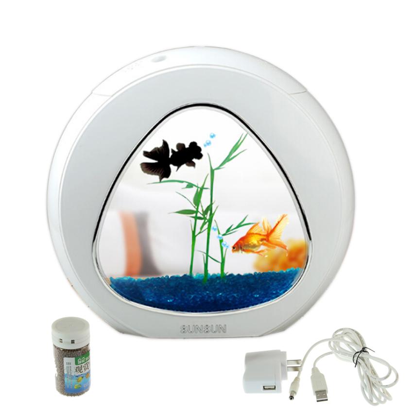 mini aquarium fish tank aquarium fish bowl aquarium tank 110V-220V/USB LED lighting comes aerobic filtration system Integration(China (Mainland))