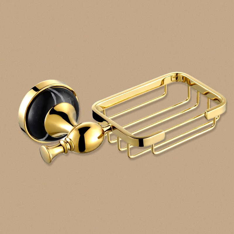 luxury Brass marble gold Soap Basket Soap Box Soap Dish Holder Bathroom Accessories(China (Mainland))