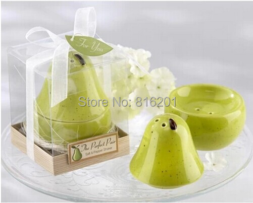 Wholesale Cheap Wedding FavorsampGifts Ceramic CruetCeramic SpiceSalt Amp Pepper ShakerPear Salt