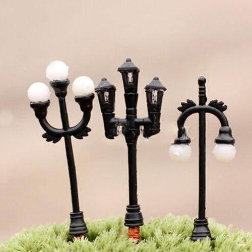 1Pcs Light Mini Streetlights Miniature Garden Ornament Plant Pots Fairy Dollhouse Craft DIY AL3283(China (Mainland))