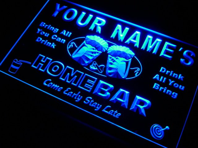 p-tm Name Personalized Custom Home Bar Beer Neon Light Sign Wholesale Dropshipping(China (Mainland))