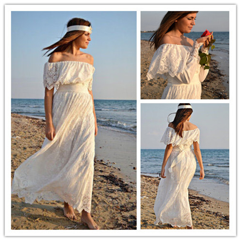 Boho Strapless Maxi Dress