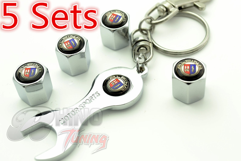 5 Sets * New Chrome Car Wheel Tyre Valve Caps for e70 e85 e38 e65 e60 e90 Car Auto Tire Valve Dust Caps Spanner Keyring 67(China (Mainland))