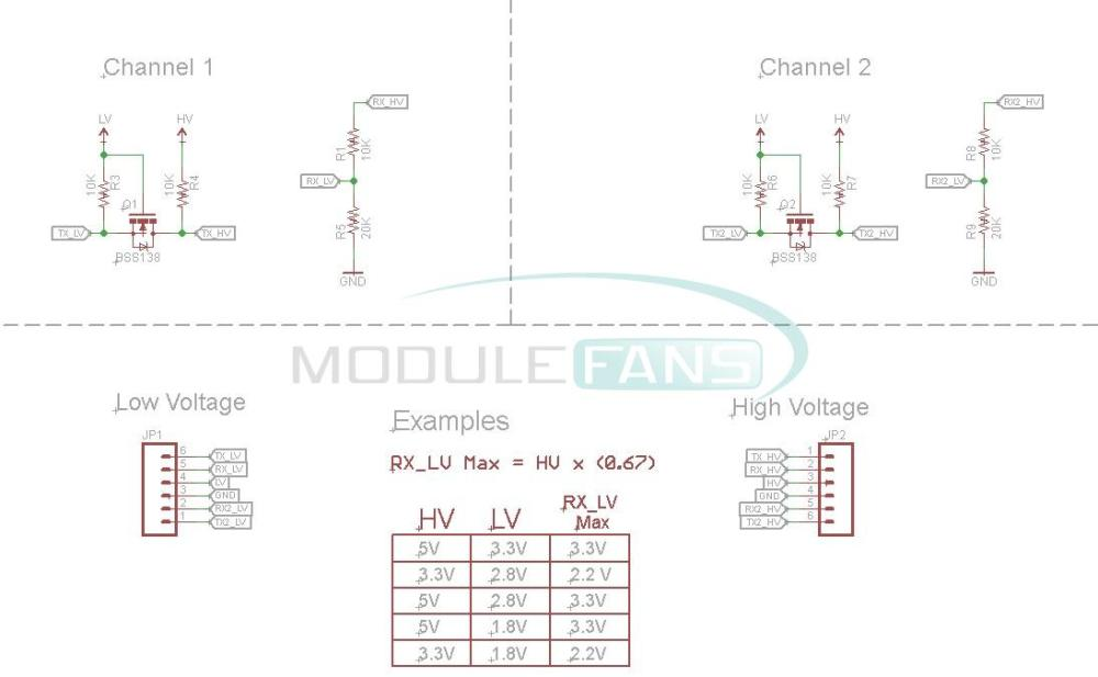 aliexpress com   buy two channel iic i2c logic level