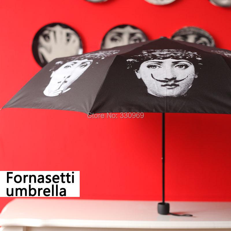 Free Shipping Italy Fornasetti folding umbrella UV exquisite classic durable sun umbrella(China (Mainland))
