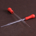 Laboratory glass dropper with red leather head 90mm 100mm 120mm 150mm 180mm 200mm straw Pipette without