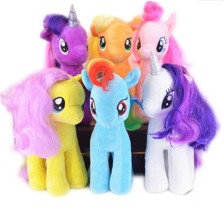 19CM Kids TV Rainbow MLP little horse plush toys Cartoon Animals Baby Toy for Children Gifts Wedding Gifts toys Free Shipping(China (Mainland))