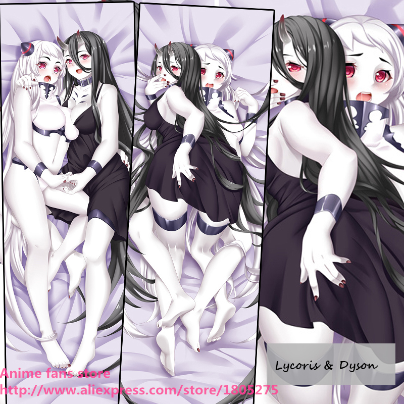 Sexy Japanese Anime Game Kantai Collection Lycoris & Dyson Dakimakura Pillow Case Cover decorative Hugging Body Bedding