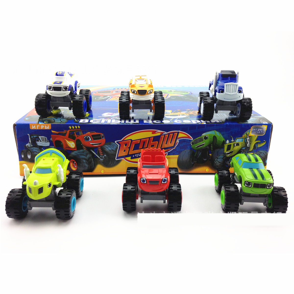 6pcs/set Blaze Monster Machines Vehicle Car Transformation ABS 7.5cm Toys Best Gifts Kids Promotion Sliding Birthday Christmas(China (Mainland))