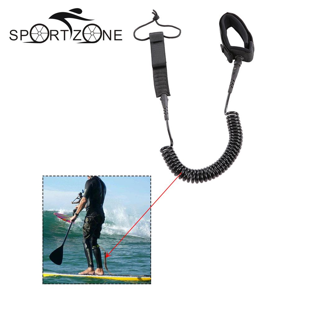 7ft / 8ft / 9ft / 10ft Surfboard Leash Coiled SUP Paddle Board Leash Cord Surfing Accessories Surfing Foot Rope Paddleboard(China (Mainland))