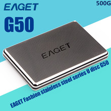 100% Original EAGET G50- 500GB USB 3.0 External Hard Drive Portable Hard Disk External HDD Case Free Shipping(China (Mainland))