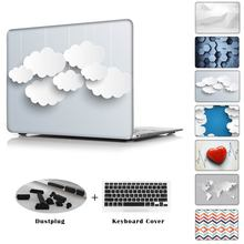 Clouds 3D printed red heart love Case For Apple MacBook Air 11 13 12 inch Pro 13 15 with Retina macbook pro 13 15 cover shell