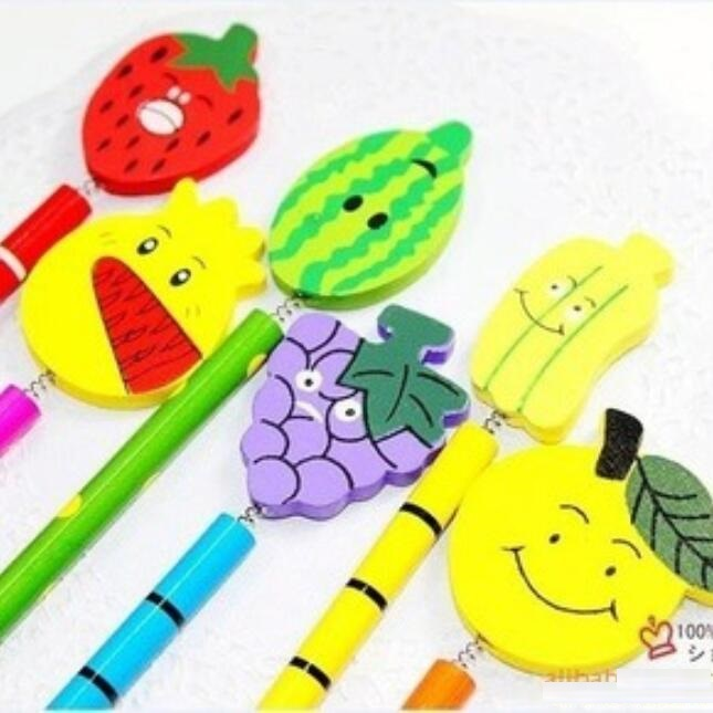 Sweet Fresh Fruit design non-toxic wooden pencil/Drawing pencils/kawaii students' gift prize/office school Stationery supplies(China (Mainland))