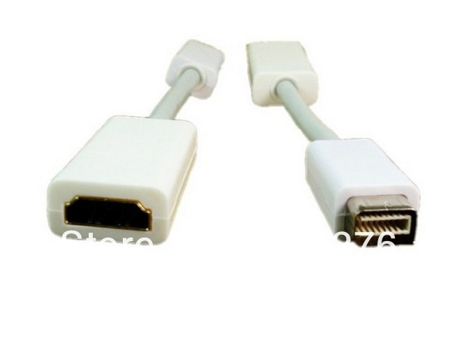 600PCS Mini DVI To HDMI adapter cable male to Female Video converter Adapter Cable Cord For Apple iMac Macbook Pro DHL shipping(China (Mainland))