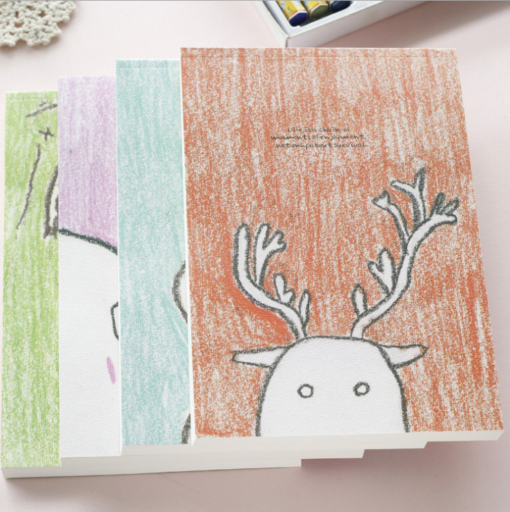 32K Pastel Drawing Style Sketch Book Animal Pics Doodling Notebook 14*21 cm(China (Mainland))