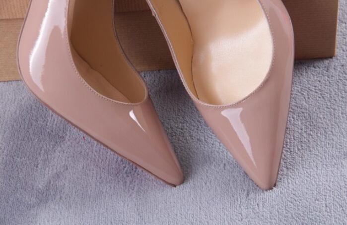nude color women summer red sole high heel sandals; luxury brand ...