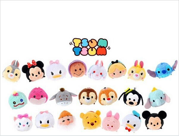 3Inch TSUM TSUM Mini Minnie Mickey Sebastian Duffy Mermaid plush toys for girl kids dolls accessory(China (Mainland))