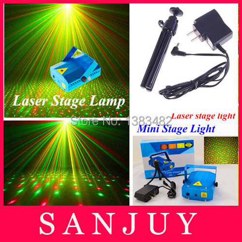 LED0042 Mini RG Laser Stage Lights Projector DJ Party club Xmas Trees Show laser stage light Original Package Free Shipping(China (Mainland))