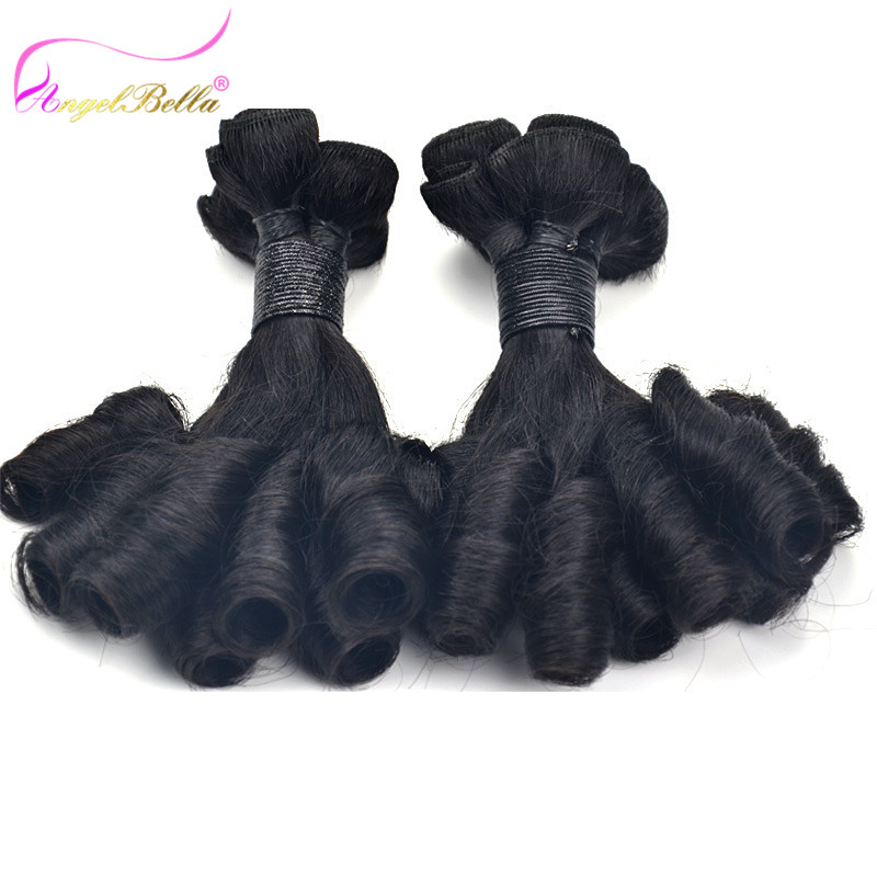 Angelbella Best Selling Curly Brazilian Cheap Remy Hair 3 Bundles Double Weft Natural Black Nice Fumi Remy Hair for Women(China (Mainland))