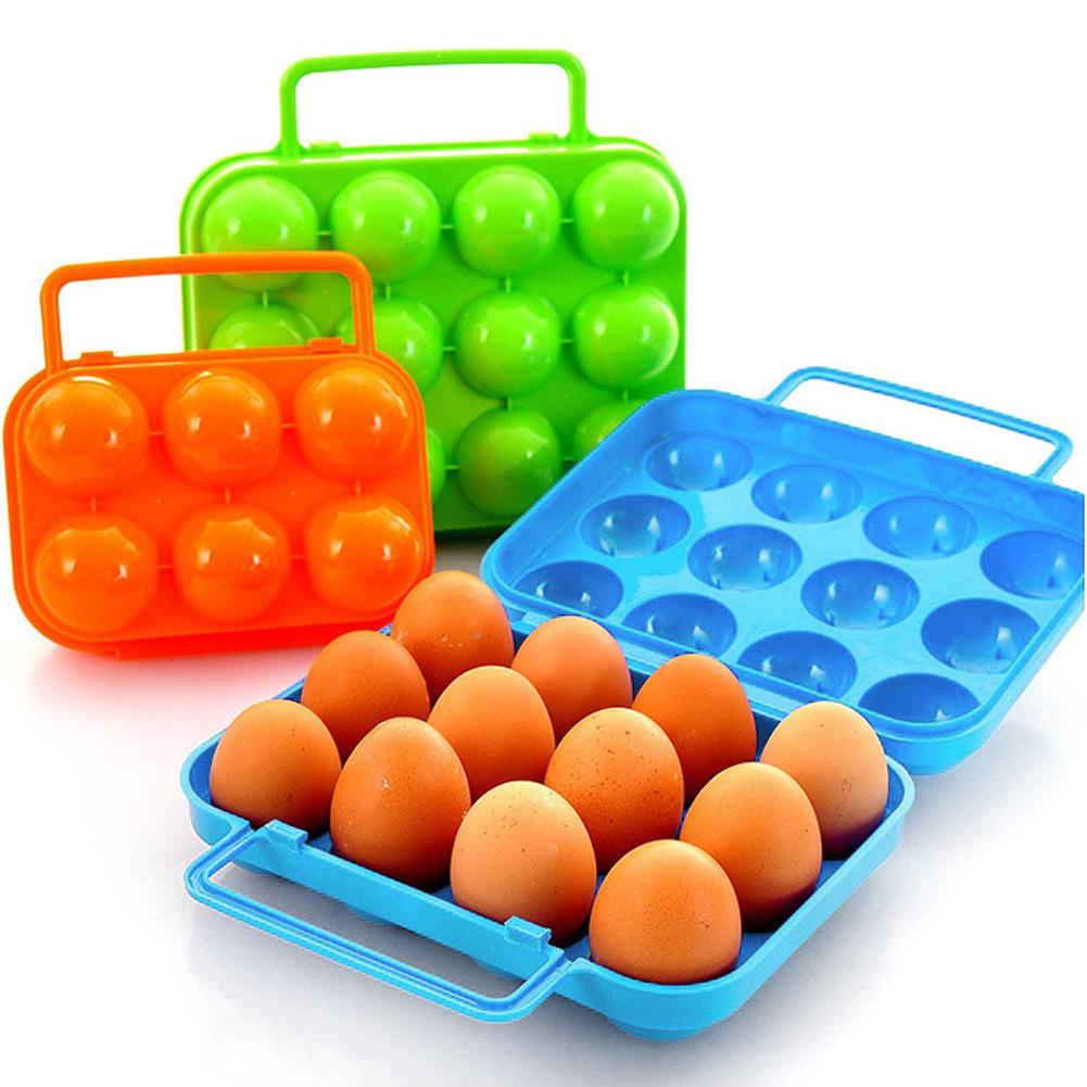 Portable Egg Container Carrier Case Basket 6/12pcs eggs mold Plastic Food Chicken Egg Holder Storage Bin Box Hamper(China (Mainland))