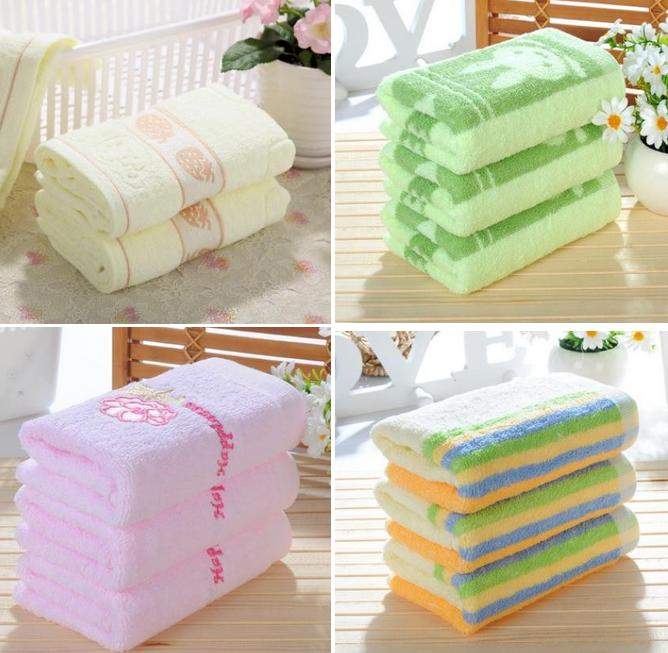 new 2015 wholesale -73*33cm 100% cotton face towel hand towel plain dyed washcloths high quality Towels(China (Mainland))