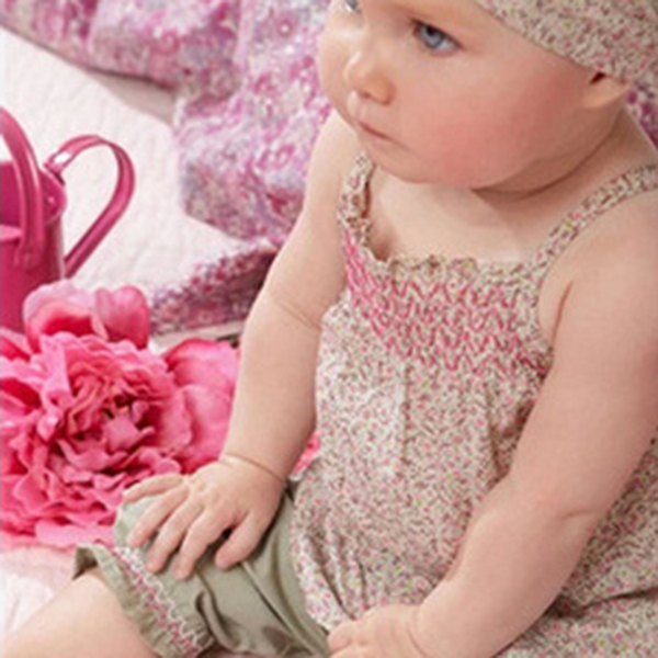 Baby Infant Clothes Floral Print Sling Shirt+Lace Short Pants+Scarf Suit 3PC(China (Mainland))