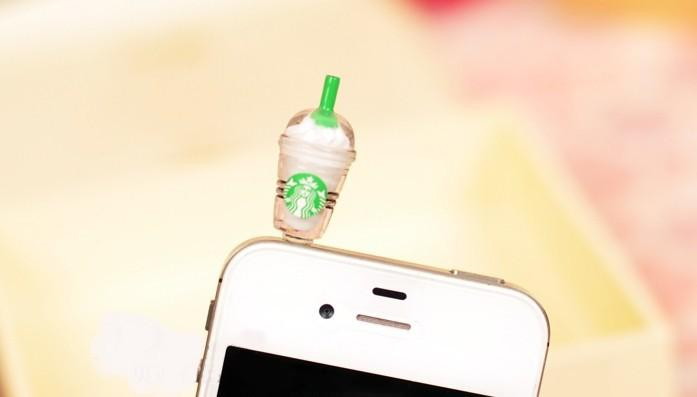 Best Sellers Cell Phones Starbucks 3.5 MM Universal Dust Plug Earphone Jack Plug Headset Stopper Cap Anti Dust Plug For iphone(China (Mainland))