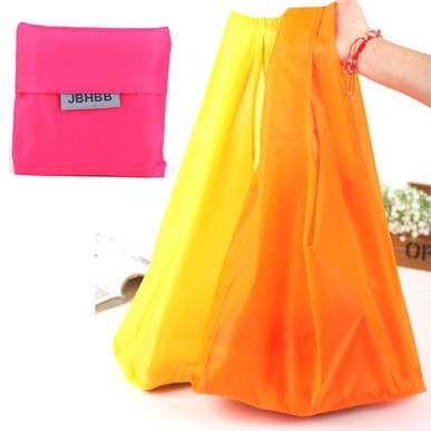 Free DHL Wholesale 8 clors Pure color Supermarket Shopping Bag Green Recycle bags reusable bag with opp bag 400pcs/lot(China (Mainland))