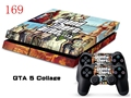 GTA 5 Collage Wrap Decal Cover For PS4 Vinyl Sticker For PS4 Console and Controller