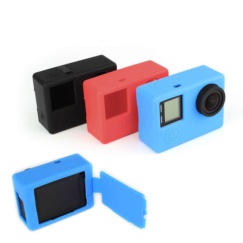 GoPro Accessories Silicone Gel Rubber Protective Case Skin Cover for GoPro Hero 4 Camera Accessories(China (Mainland))