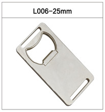 stainless Metal opener 4 styles 25mm width neck lanyard strap accessories rectangle bottle opener100pcs/lot customized color(China (Mainland))
