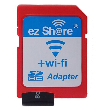 Free shipping ezshare EZ share micro sd adapter wifi wireless hot sale TF MicroSD adapter WiFi SD card free ride(China (Mainland))
