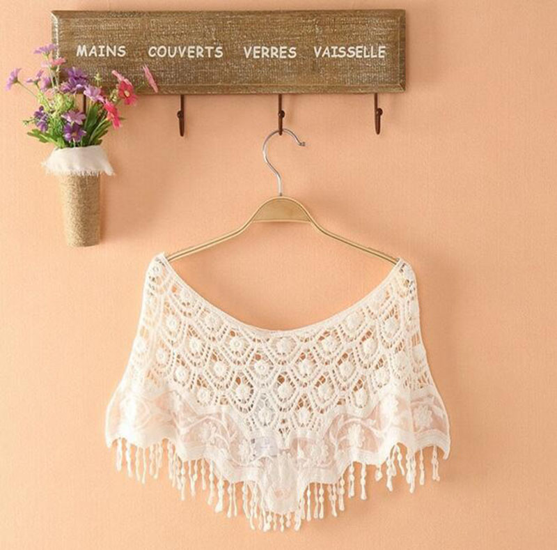 For 2016 New Cloth Shawl Hollow Out Fashion Cotton Lace Collar Applique DIY Apparel HH154(China (Mainland))