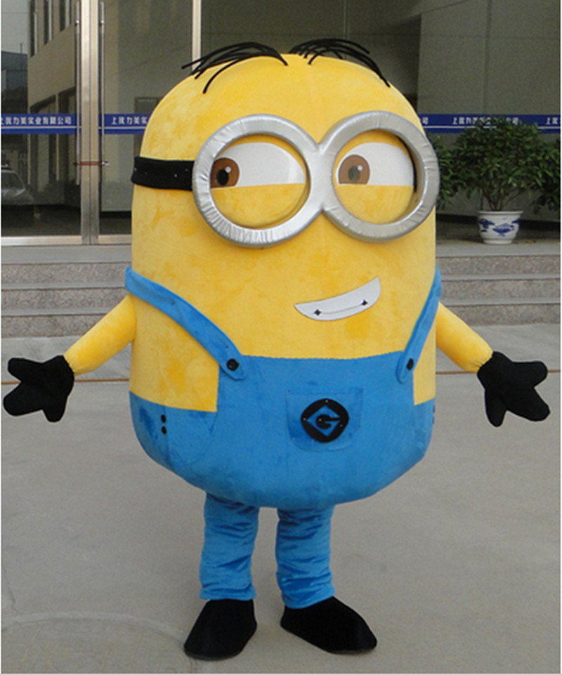 In-stock Cheap Despicable me minion mascot costume adults size for kids party()