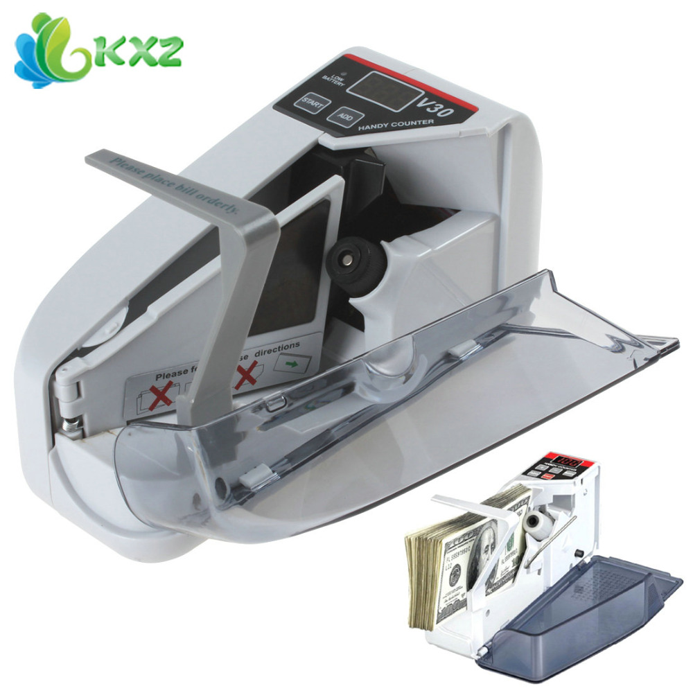 YBC-V30 Mini Portable Bill Counter Machine Multi Paper Currency Handy Cash Money Counter Counting Machine(China (Mainland))