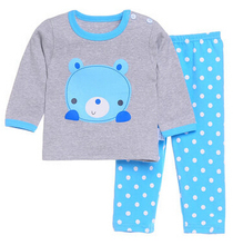 Free shipping 2016 Children's cotton underwear sets baby pajamas baby clothes at home children's clothing paragraph(China (Mainland))